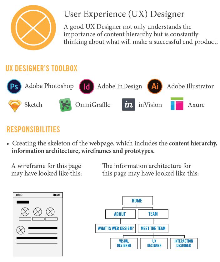 UX Experience Designer Infographic